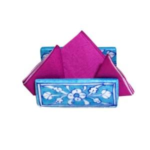 Aurea Blue Pottery Napkin Holder
