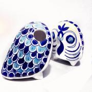 Aurea Blue Pottery Owl Pen stand