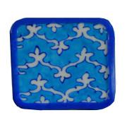Aurea blue pottery coasters