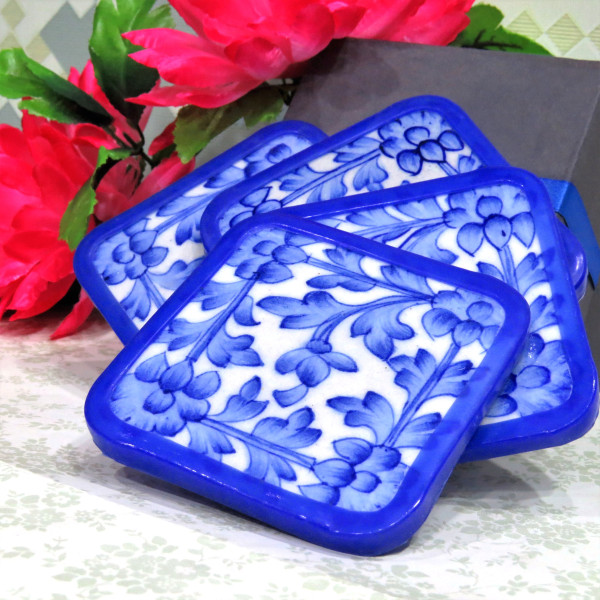 Aurea Blue Pottery Coasters