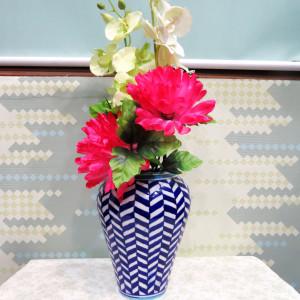 Aurea Blue Pottery Large Vase