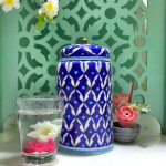 Aurea Blue Pottery Decorative Jar