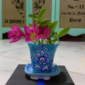 Aurea Blue Pottery Mini Planter