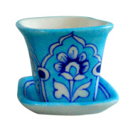 Aurea Blue Pottery Mini Planter