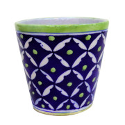 Aurea Blue Pottery Planter Flower Pot