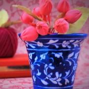 Aurea Blue Pottery Planter