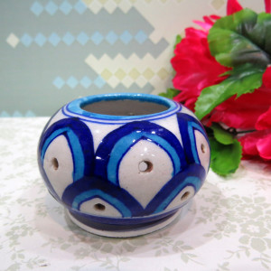 Aurea Blue Pottery Tea-Light Holder-Small