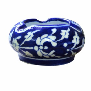 Aurea Blue Pottery Ash Tray