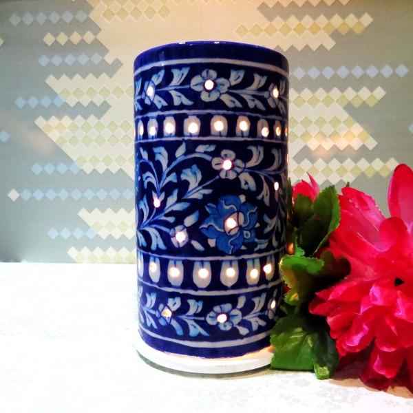 Aurea Blue Pottery Night Lamp
