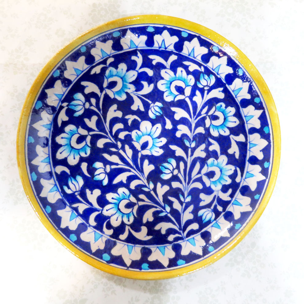 Blue pottery blue pottery in jaipur blue pottery for Decoration plater