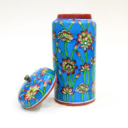 Aurea Blue Pottery Decorative Jar