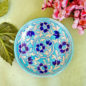Aurea Blue Pottery Decorative Plate