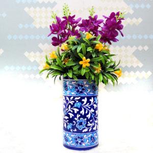 Aurea Blue Pottery Vase