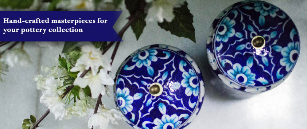 aurea blue pottery collection