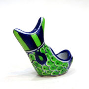 Aurea blue pottery fish holder