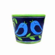 Aurea Blue Pottery Planter Flower Pot
