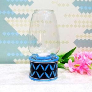 Aurea Blue Pottery Tea-light Lamp