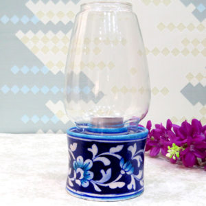Aurea Blue Pottery Tea-light Lamp