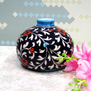 Aurea Blue Pottery Small Vase