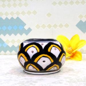 Aurea Blue Pottery Tea Light Holder