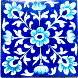 Aurea Blue Pottery Tile 6 x 6 inches