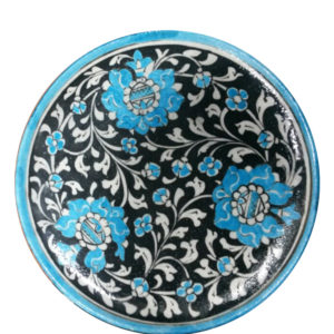 Aurea Blue Pottery Plate Large