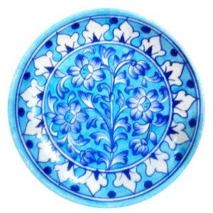 Aurea Blue Pottery Plate