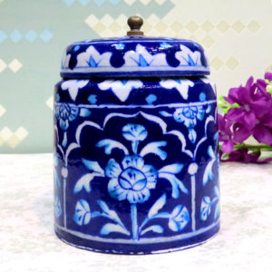 Aurea Blue Pottery Small Jar