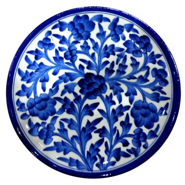 Aurea Blue Pottery Decorative Plate - Large