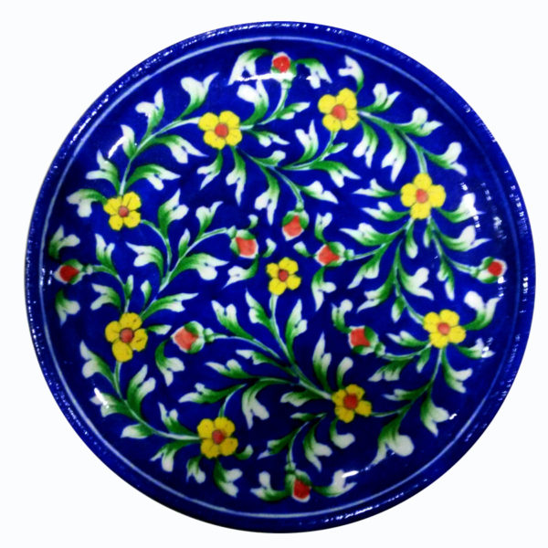 Aurea Blue Pottery Decorative Plate - Large