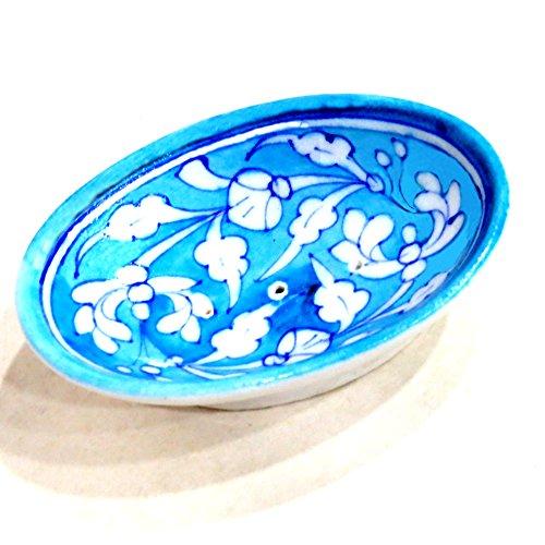 Aurea Blue Pottery Soap Dish