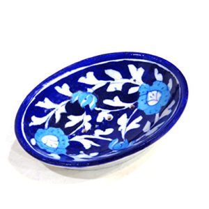 Aurea Blue Pottery Soap Dish