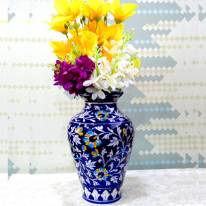 Aurea Blue Pottery Large Vase