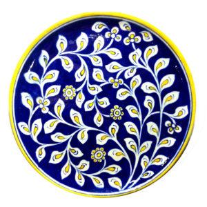 Aurea Blue Pottery Decorative Plate Large
