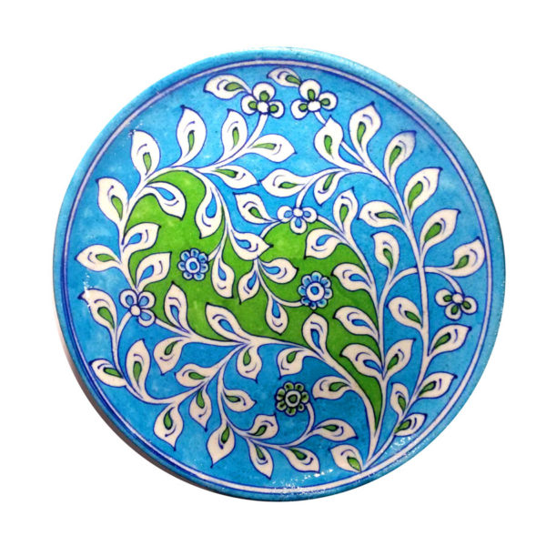 Aurea Blue Pottery Decorative Plate Large