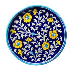 Aurea Blue Pottery Decorative Plate Medium
