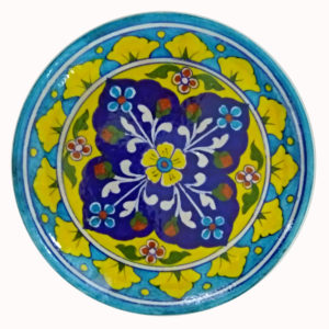 Aurea Blue Pottery Decorative Plate Medium