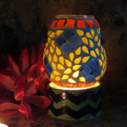 Aurea Blue Pottery T light Lamp