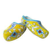 Aurea blue pottery shoe shaped multi-purpose holder desk supplies holder