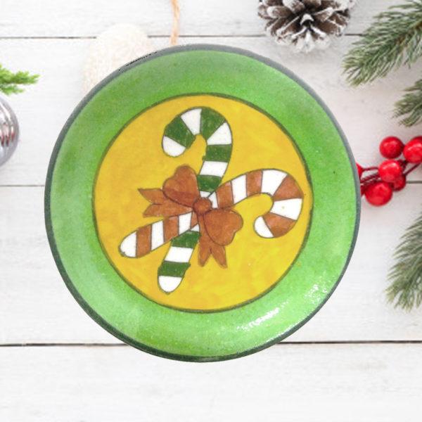 Aurea Blue pottery Christmas Plate