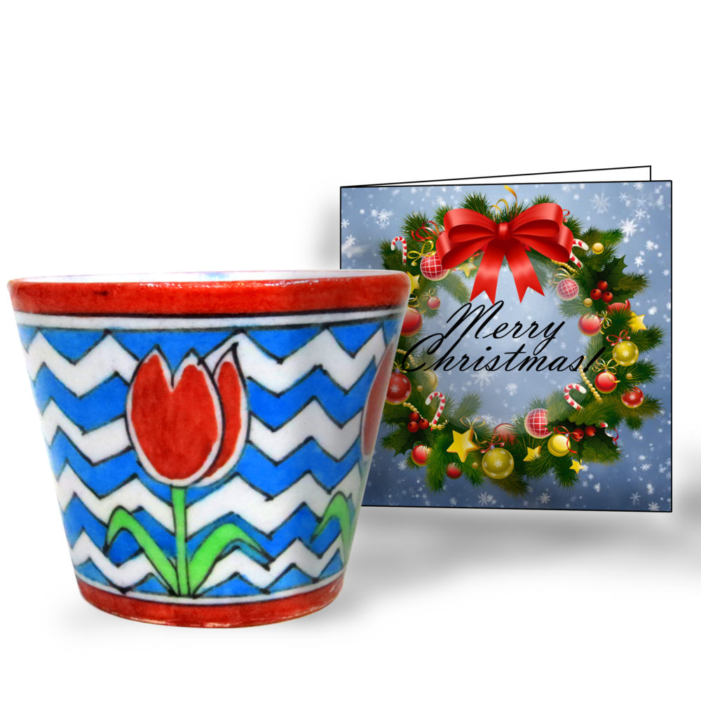 CHRISTMAS COMBO DESKTOP PLANTER AND GREETING CARD (SMALL)