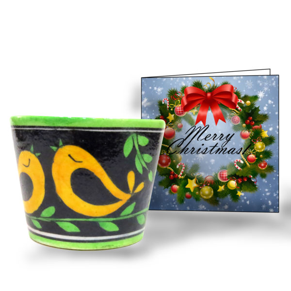 Christmas Gift planter greeting card