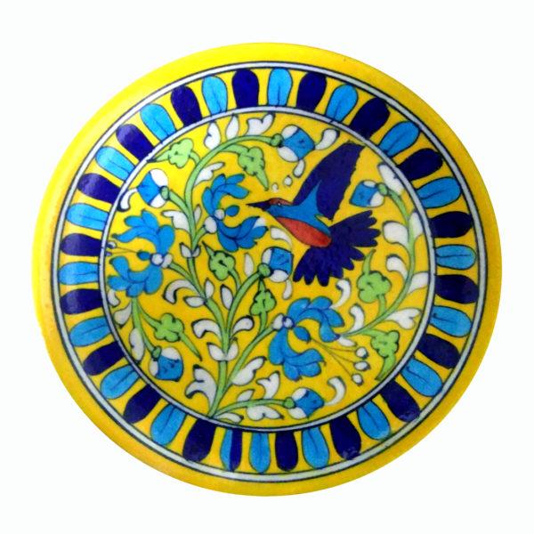 AUREA BLUE POTTERY DECORATIVE PLATE